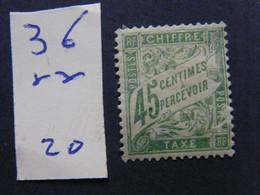 Tax No 36 Neuf * - 1960-.... Nuevos