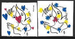 France 2015 Adhésifs N° 1082/1083 Neufs Saint Valentin De Castelbajac, Cote 8 Euros - Adhesive Stamps