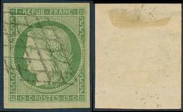 1849 Francia Yv# 2  (o) Usado, Buen Estado. Tipo Ceres 15 C. (Yvert&Tellier) - 1849-1850 Ceres