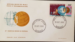 FDC MALI  Football, Coupe Du Monde LONDRES 1966. PA 38. - 1966 – Engeland