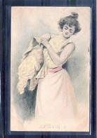 Carte Illustrée. Le Bain 3 - Ante 1900