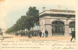 69 - VILLEFRANCHE SUR SAONE - GARE DU CHEMIN DE FER - Villefranche-sur-Saone