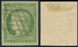 1849 France  Sc# 2  (o) Used, Nice. Type Ceres 15 C. (Scott) - 1849-1850 Ceres