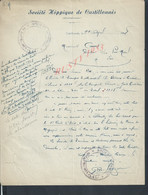 LETTRE AVEC CACHET SOCIETE HIPPIQUE COURSE DE CHEVEAUX DE CASTILLONNÈS 1948 : - Equitation