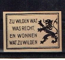 Vignette Propagande Nationaliste Flamand - Unclassified