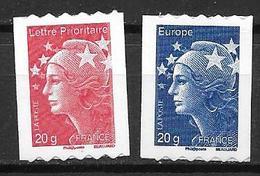 France 2008 Timbres Adhésifs Neufs** N°220/221 Marianne De Beaujard à La Faciale - Adhesive Stamps