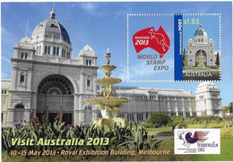 2013 World Stamp Expo Imperforate Minisheet Overprint Indonesia 2012 MNH - Blocks & Sheetlets