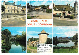 91 - SAINT CYR SOUS DOURDAN - Multi Vues: Mairie école, Tabac Hôtel, Château Moulin De Bandeville, Ferme Des Tourelles, - Altri Comuni