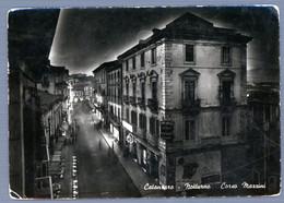 °°° Cartolina - Catanzaro Notturno Corso Mazzini Viaggiata (l) °°° - Catanzaro
