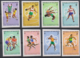 Olympics 1976 - Wrestling - Athletics - MALDIVES - Set Imp. MNH - Summer 1976: Montreal