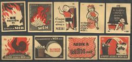 Hungary 9 Old Matchbox Labels - Matchbox Labels