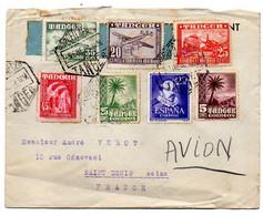 Maroc Espagnol -1951--Lettre De TANGER Pour St DENIS (France)...timbres....cachets.........à Saisir - Spanish Morocco