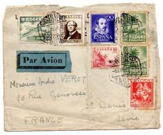 Maroc Espagnol -1951--Devant De Lettre De TANGER Pour St DENIS (France)...timbres....cachets.........à Saisir - Spanish Morocco