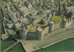 Wales Caernarvon Castle 1975 Postcard Aerial View - Caernarvonshire