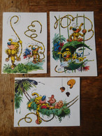 3 Cartes Postales Marsupilami - Postkaarten