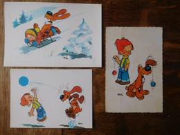 3 Cartes Postales Boule & Bill - Postkaarten