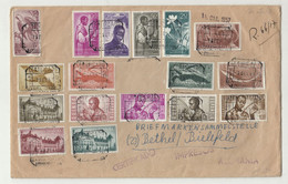 Guinea Espanola Multifranked Large Size Letter Cover Posted Registered 1957 To Germany (please Read Description) B210120 - Guinea Spagnola