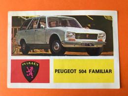 PEUGEOT 504 FAMILIAR - Vintage Figurine Verzamel Plaatje Cart Carte Image Car Auto Voiture - Album - Auto's