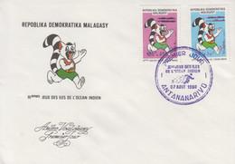 Enveloppe  FDC  1er  Jour   MADAGASCAR   IIIéme  Jeux  Sportifs   Des   ILES   DE   L' OCEAN   INDIEN   1990 - Madagascar (1960-...)