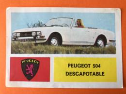 PEUGEOT 504 DESCAPOTABLE - Vintage Figurine Verzamel Plaatje Cart Carte Image Car Auto Voiture - Album - Auto's