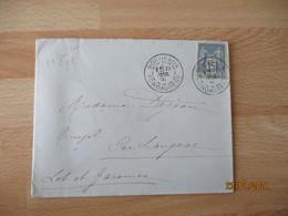 Bordeaux Fondaudege Obliteration Lettre Timbre Sage Courrier - 1921-1960: Modern Tijdperk