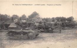 MORBIHAN  56  CAMP DE COETQUIDAN - ARTILLERIE PORTEE - TRACTEURS A CHENILLES - MILITARIA - Guer Coetquidan