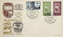 1956 Guinea Española FDC Dia Del Sello - Guinea Spagnola