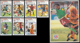 Soccer Football Nicaragua #3228/34 + Bl 207 1994 World Cup USA MNH ** - 1994 – Verenigde Staten