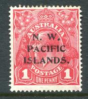New Guinea - Australia Overprints - 1915-16 KGV - 1d Dull Red HM (SG 67a) - Papua Nuova Guinea