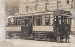 SELECTION - VITRY SUR SEINE - CARTE PHOTO - Tramway  Châtelet - Vitry  (état) - Vitry Sur Seine