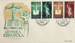 1958 Guinea Española FDC Pro Indigenas - Guinea Spagnola