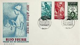 1965 Rio Muni FDC XXV Años De Paz - Riu Muni
