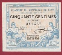 50 Cts  Chambres De Commerce De  Lyon Du 09/10/1915   Dans L 'état (207) - Cámara De Comercio