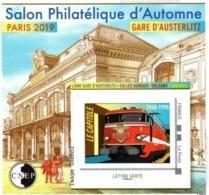 CNEP N°  81, De 2019 - Bloc Autoadhésif - Salon D'automne, Gare D'Austerlitz - CNEP