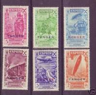 TABE17-L2312TEUESPCOLMA.Spain.Espagne   BENEFICENCIA.Historia Del Correo.TANGER  ESPAÑOL.1943.(Ed 17/22**) S/c..LUJO - Spanish Morocco