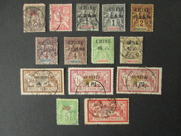 CHINE Timbres Oblitérés , Neufs * FRANCE COLONIES FRANCAISES Timbre CHINA Stamps - Unclassified