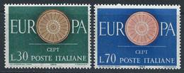 Italie YT 822-823 Neuf Sans Charnière - XX - MNH Europa 1960 - 1946-60: Nieuw/plakker