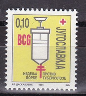 Yugoslavia Serbia 1994 Week Fight Against Tuberculosis TBC Red Cross Medicine Disease Health Charity Surcharge Tax MNH - Rotes Kreuz