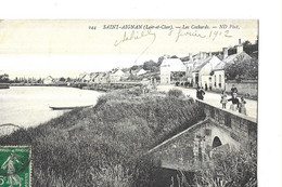 SAINT AIGNAN  N 244   LES COCHARDS   PERSONNAGES   SUR LE  PONT  DEPT 41 - Saint Aignan