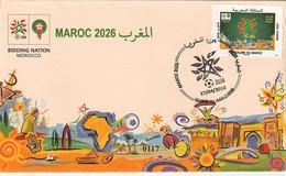 Maroc. Enveloppe 1er Jour. FDC 2018. Candidature Du Maroc Coupe Du Monde Football 2026. - 2022 – Qatar