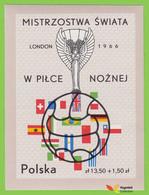 Voyo POLAND 1966  Mi#BL38 ** MINT World Cup Soccer Championship, Wembley - 1966 – Engeland