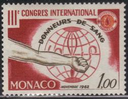 Monaco 1962 Yvert 598 Neuf** MNH (AE78) - Nuovi