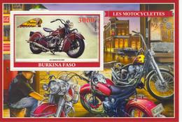 Burkina Faso  -  Les Motocyclettes  -  Indian Chief 1941  -  1v Sheet Neuf/Mint/MNH - Motorbikes