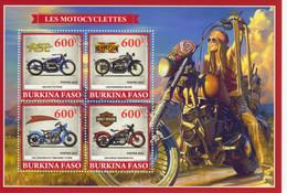 Burkina Faso 2019  -  Les Motocyclettes  -  Ace-Henderson-Crocker-Harley Davidson -  4v Sheet Neuf/Mint/MNH - Motorbikes
