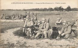 INFANTERIE  EN  MANOEUVRES  -  Groupe  De  Mitrailleuses ( Hotchkiss )  Au  Tir - Manoeuvres