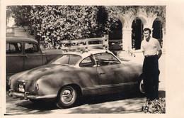 VW Karmann Ghia,original Photo From 1958. 14 X 9 Cm. - Cars