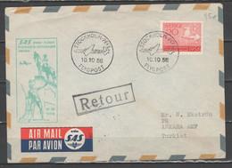 Svezia 1956 - Primo Volo SAS Stockholm-Copenhagen-Ankara            (g7209) - Briefe U. Dokumente