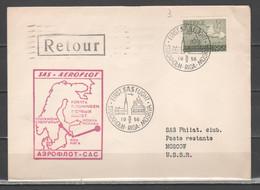 Svezia 1956 - Primo Volo SAS Stockholm-Riga-Mosca             (g7210) - Briefe U. Dokumente