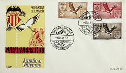 1958 Sahara Español FDC Ayuda A Valencia - Sahara Spagnolo