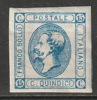 Italy 1863 Sc 23 Sa 13 MH* Type II - Neufs